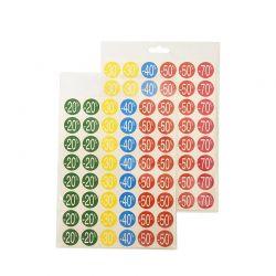 Mix pastilles adhésives imprimées remises