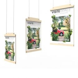 Front-facing display door with magnetic wood suspension V