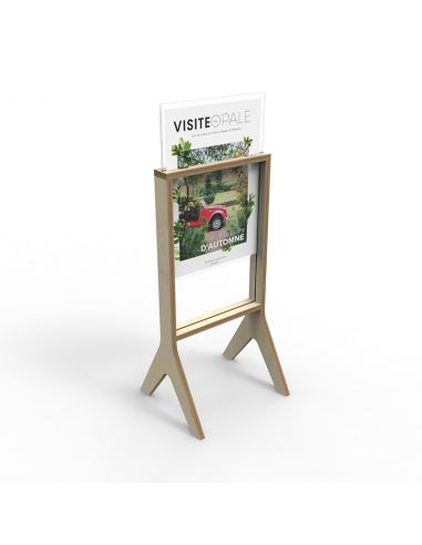 R/V stand-up wood visual holder