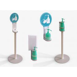 Support distributeur pour gel hydroalcoolique